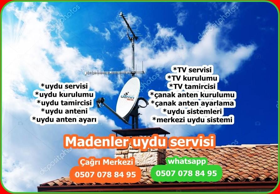 Madenleruydu servisi uydu montajı merkezi uydukurulumu tv tamiri