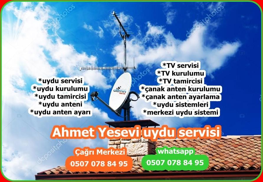 Ahmet Yesevi uydu servisi Uydu Montajı merkezi uydu anten tv tamiriuydu kurulumu